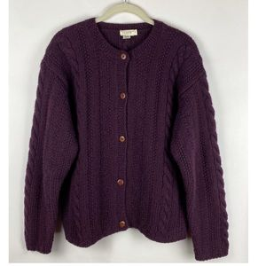 J Crew Sweater Wool Button Front Cardigan